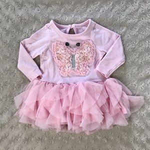 Nannette Baby Butterfly Tutu Dress Pink 0-3 Months